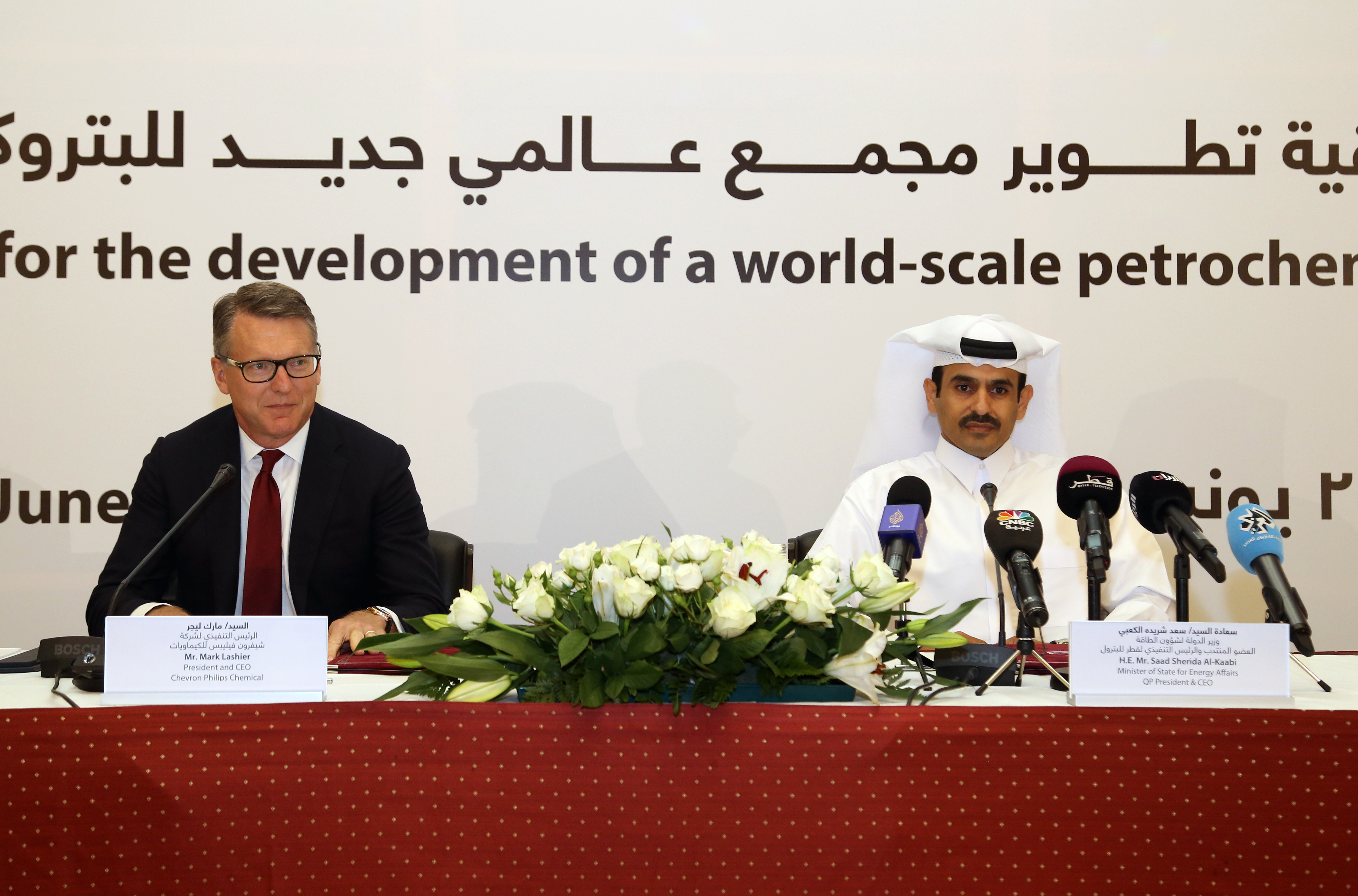 Chevron Phillips Chemical and Qatar Petroleum Sign Agreement to Develop Petrochemical Complex in Qatar