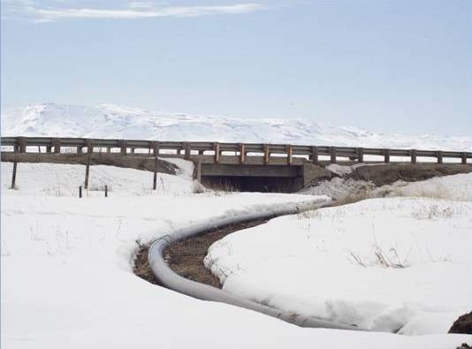 Chevron Phillips Chemical HDPE pipe used in a wastewater replacement project in Fairfield, Idaho