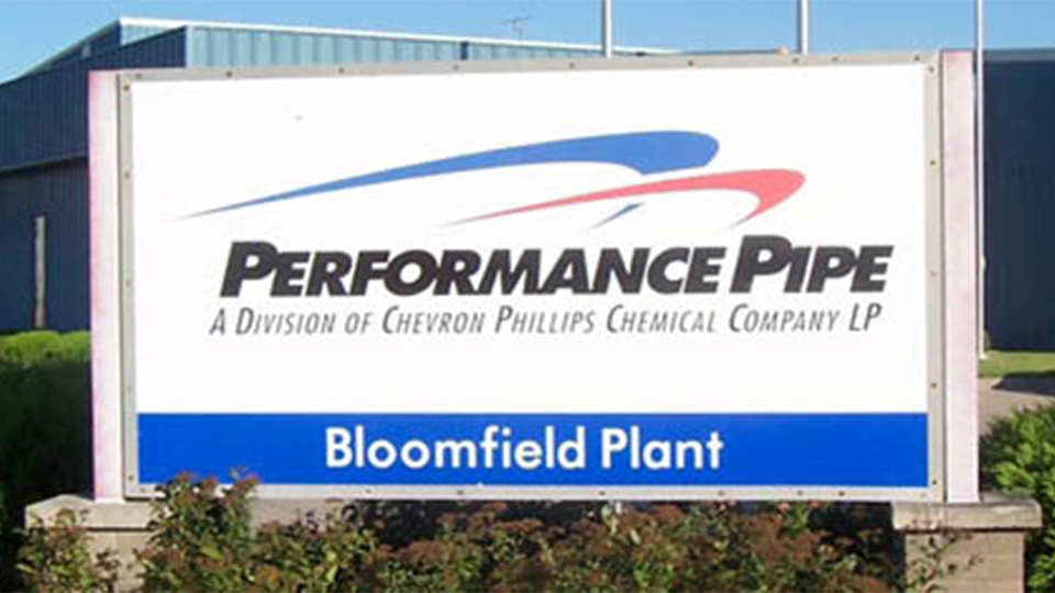 Performance Pipe plant in Bloomfield, Iowa