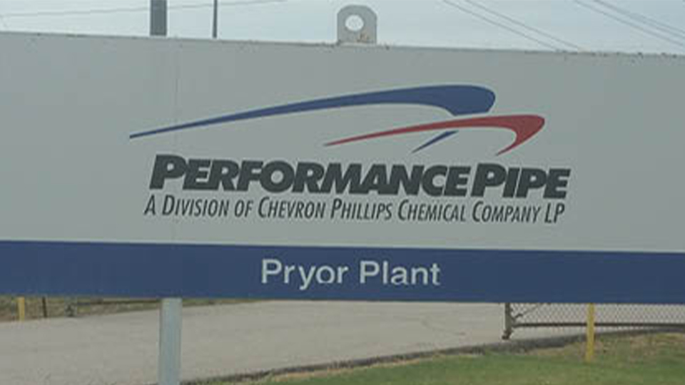 Performance Pipe plant in Pryor, Oklahoma