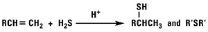 Addition of Hydrogen Sulfide